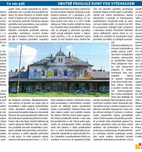 Smutně proslulé ruiny pod Vyšehradem / Noviny Prahy 2: srpen 2018