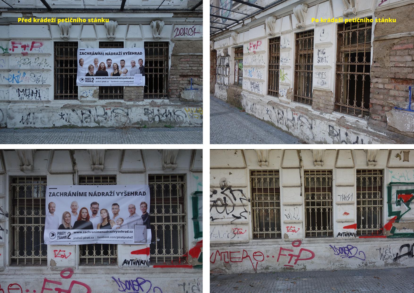 Ukradené petiční stánky