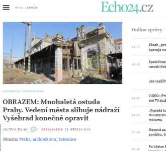 Echo24.cz: OBRAZEM: Mnohaletá ostuda Prahy. Vedení města slibuje nádraží Vyšehrad konečně opravit