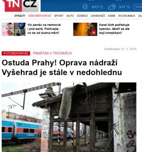 TN.cz: Ostuda Prahy! Oprava nádraží Vyšehrad je stále vnedohlednu