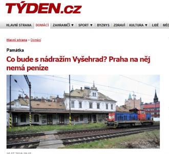 Tyden.cz: Co bude snádražím Vyšehrad? Praha na něj nemá peníze