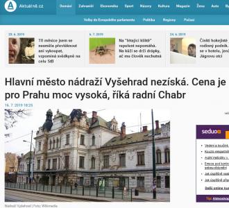 Aktuálně.cz: Hlavní město nádraží Vyšehrad nezíská. Cena je pro Prahu moc vysoká, říká radní Chabr