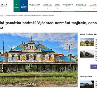 TVarchitect.com: Historická památka nádraží Vyšehrad nezmění majitele, cena za ni je vysoká