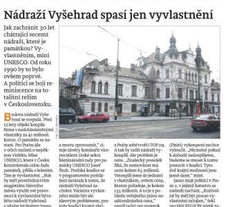 Náš region Praha: Nádraží Vyšehrad spasí jen vyvlastnění