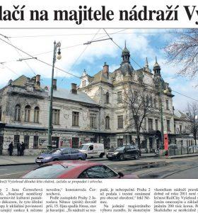 Právo: Město tlačí na majitele nádraží Vyšehrad